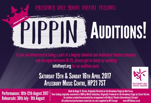 FB Twitter Pippin AUDITION Announcement